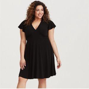 Torrid Black Jersey Knit Skater Dress Size 2X